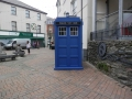 The TARDIS lands in Holyhead, November 2013.