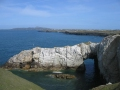 Bwa Gwyn - The White Arch at Rhoscolyn, July 2014.