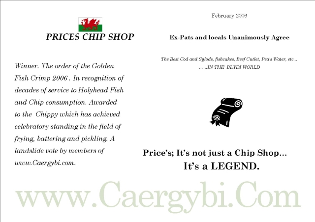 Prices Chippy Sustificate